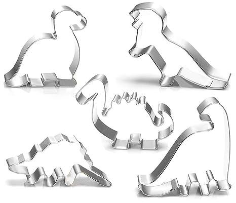 KAIMENG Cortador de Galletas de Dinosaurio Set Cortadores de Galletas Moldes para Cumpleaños de Los Niños