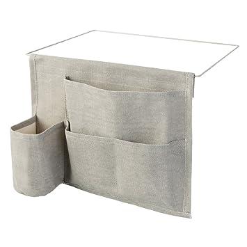 InterDesign Wren Bedside Caddy Storage Organizer For Phone, Tablet,  Magazines, Water Bottle,