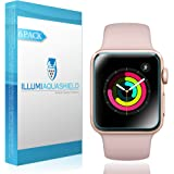 Apple Watch Screen Protector 38mm [6-Pack], (Series 3/2/1 Compatible) ILLUMI AquaShield Full Coverage Screen Protector for Apple Watch HD Anti-Bubble Film Military-Grade Self-Healing UV-Resistant
