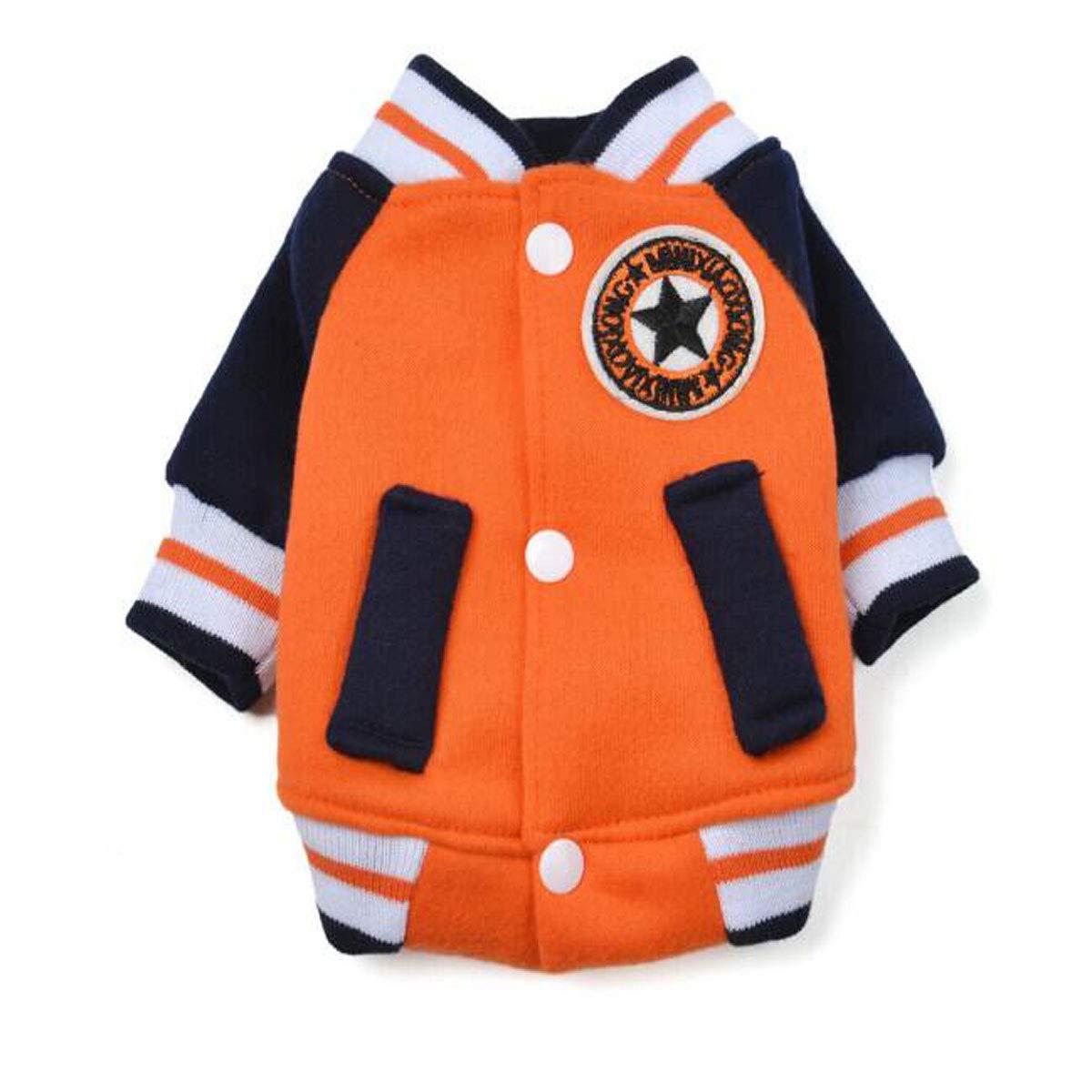 orange L orange L Pet Autumn and Winter, Small Dog Clothing (color   orange, Size   L)