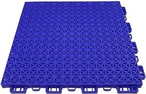 RevTime 24 pcs Interlocking Rugged Grip-Loc Deck Floor Tiles 12