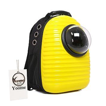 Yoome Mochila de viaje transpirable para mascotas con capsulas de espacio, bolsa de transporte portátil, mochila de senderismo, burbujas para gatos y perros ...