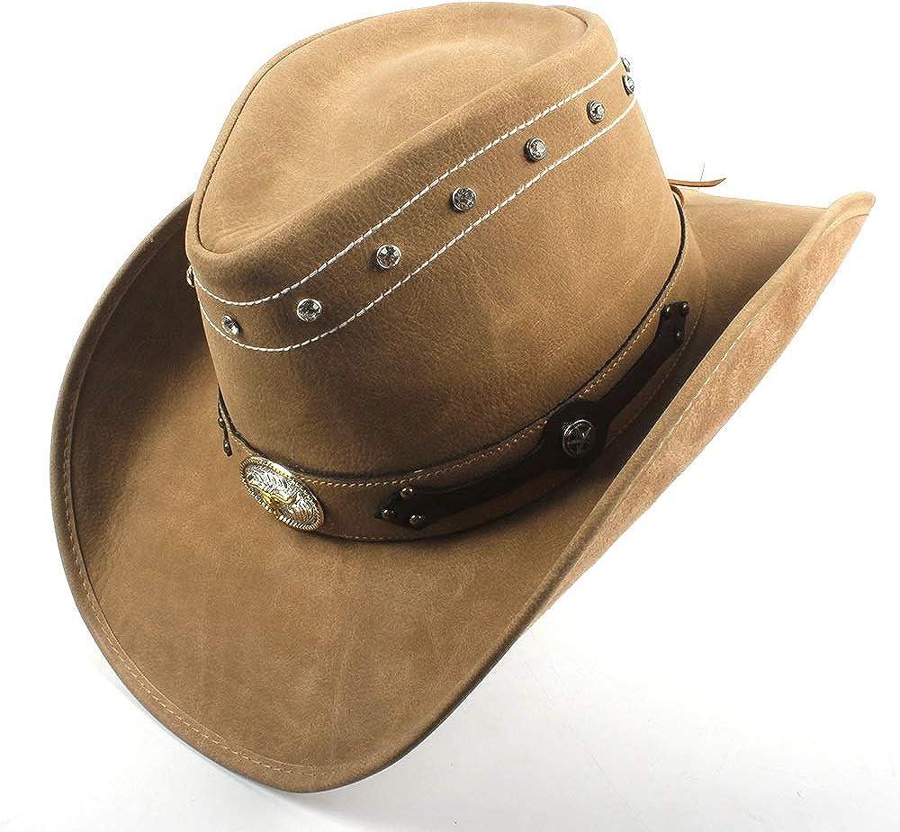 Women Cow Head Leather Men...