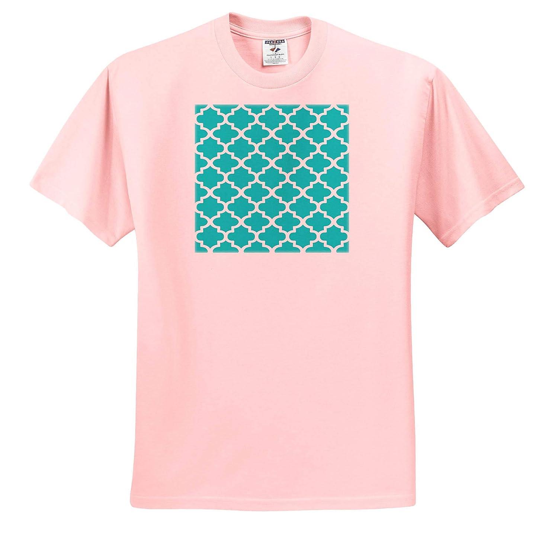 Digital Art Arabesque Architecture Pattern in Sky Blue Arabian Pattern 3dRose Taiche ts/_317491 Adult T-Shirt XL