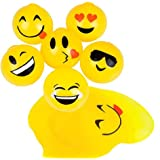 "2.5"" Sticky Splat Emoticon Emoji Ball 1 Dozen"