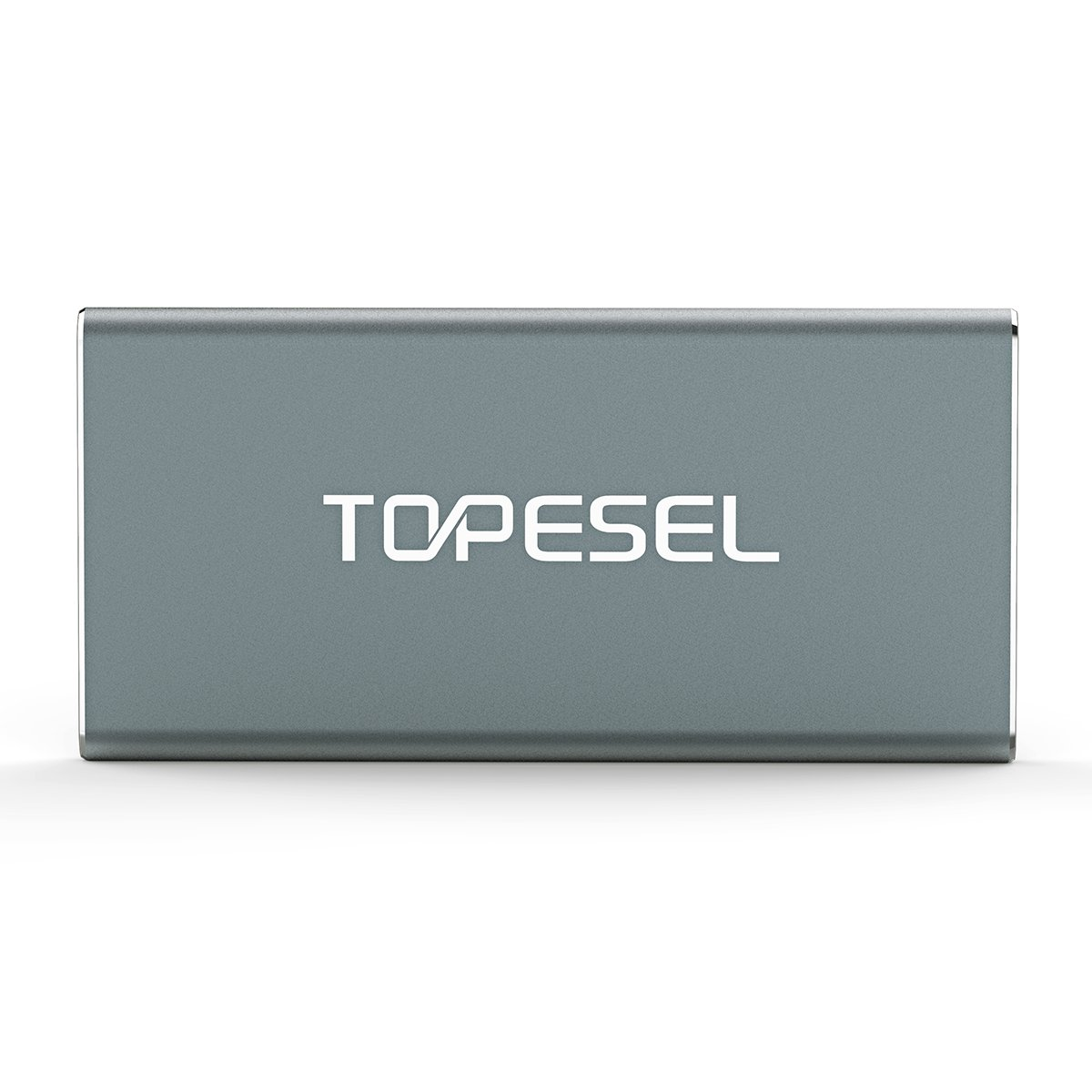 TOPESEL 60GB USB 3.0 Portable SSD High Read/Write Speed up to 300Mbps/420Mbps Aluminum Ultra Slim External Solid State Drive, Grey