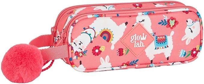Glowlab-Portatodo Doble Llamas Estuche, Color Rosa (SAFTA 811961513): Amazon.es: Juguetes y juegos