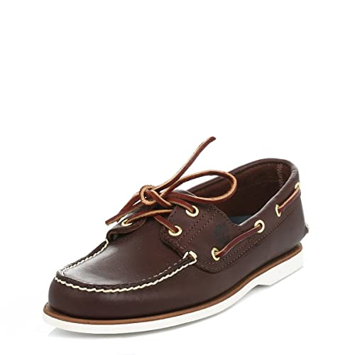 9a92124b3 MENS TIMBERLAND CLASSIC BROWN LEATHER 2 EYE 74035 BOAT SHOES UK SIZES  6-12.5 (