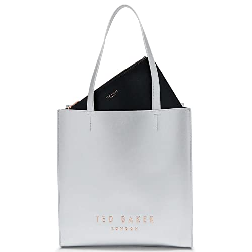 901cc2fe7b Ted Baker Elissa Leather Shopper Bag - O/S, SILVER: Amazon.co.uk: Shoes &  Bags