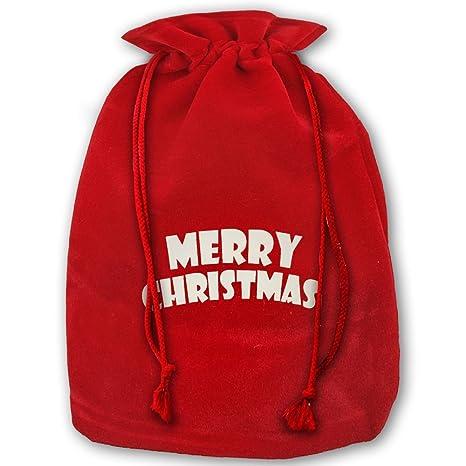 Merry Chistmas carta Logo patrón bolsa para regalos de ...