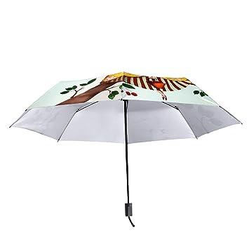 SHRJJ Nuevo Paraguas De Sol Femenino Protección Solar Protección UV Parasol Chica De Cerezo Pequeño Paraguas