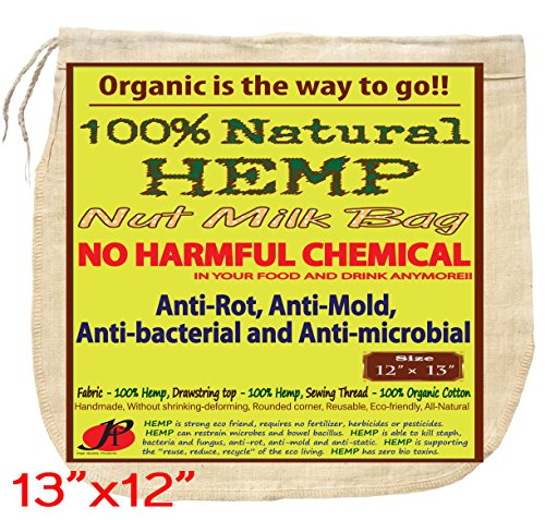 PF-All-Natural-Nut-Milk-Bag-No-Harmful-Chemical-Anti-Rot-Anti-Mold-and-Anti-Static-from-Pure-Hemp-Fabric-Super-Healthy-Super-Tasty-Reusable-Filter-Bags-13-X-12-Inches