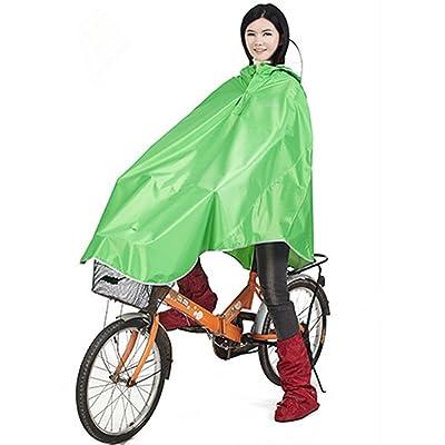 Vélo Vestes pluie poncho de pluie Cape de pluie, or Being imperméable respirant avec capuche, manteau de pluie étanche pour vélo avec bandes réfléchissantes, Pluie Vêtements Ves