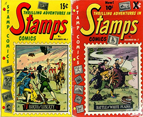 Stamps Issues 1 and 2. Thrilling adventures in. Features Birth of Liberty and Battle of white plains. Golden Age Digital Comics Action and Adventure.