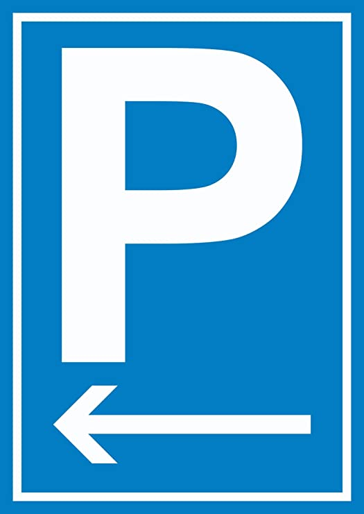 HB_Druck P Cartel de Estacionamiento con Flecha según ...