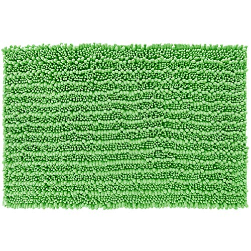 - Yimobra Original Luxury Shaggy Bath Mat Large Size 31.5 X 19.8 Inch Super Absorbent Water,Non-Slip,Machine-Washable,Soft and Cozy,Thick Modern for Bathroom,Bedroom,Floor,Moss