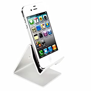 Desktop Cell Phone Stand Tablet Stand,iBarbe Advanced Aluminum Stand Holder for Mobile Phone (All Size) such as Mobile Phone iPhone X,iPhone 8 6S,7 Plus 5S 6 SE 5C etc.Tablet(Up to 10.1 inch), Silver