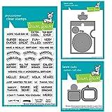 Lawn Fawn Clear Stamp & Die Set - Reveal Wheel Sentiments, Reveal Wheel Speech Bubble Add-on, Reveal Wheel