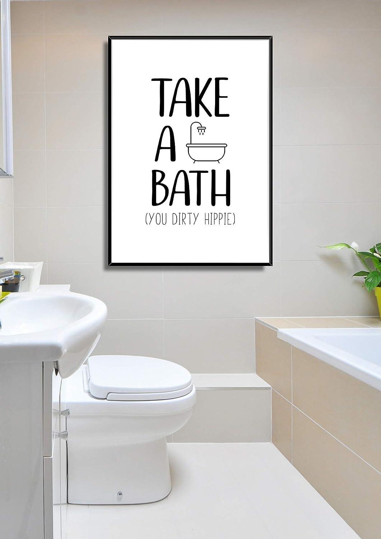 Kunstdruck Bad Poster WC Bild Badezimmer Print DIRTY HIPPIE ...