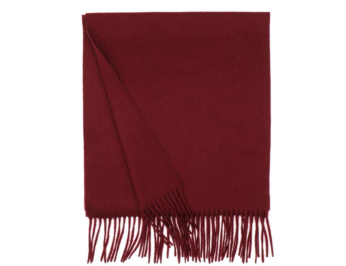 MA.AL.BI. Fine Italian Dark Red Cashmere Scarf 15'' x 71''