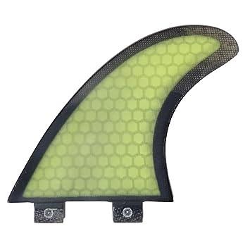 FCS COMPATIBLES Quad hexcore Fibra de vidrio Tabla de surf Aleta 4 Fin), color