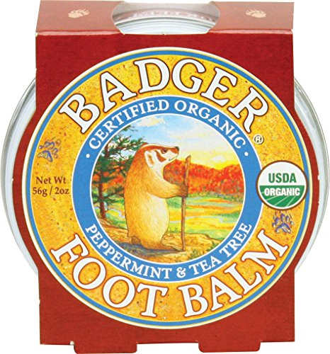 Badger Foot Balm, Peppermint & Tea Tree - 2 oz - Foot Lotion Cooling