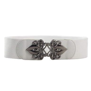 comprar popular ba949 548f6 HCFKJ Cinturones De Moda Mujer Ancho Cintura EláStica ...