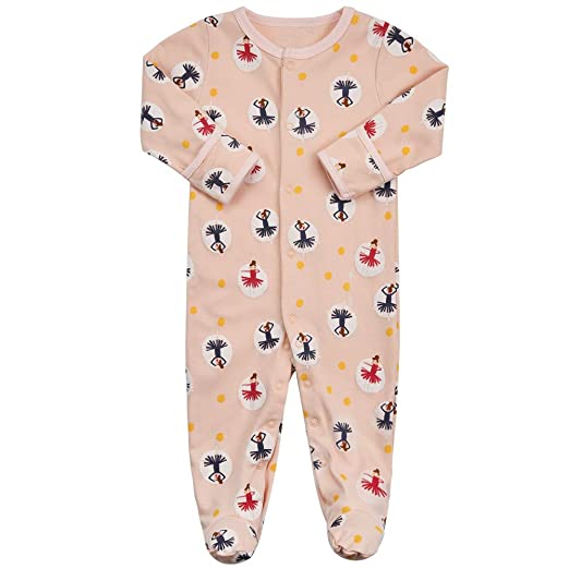 9c5e3e1c45c7 Amazon.com  Baby Footed Pajamas with Mittens - 3 Packs Infant Girls ...