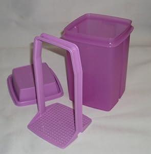 Tupperware Large Square Pick-a-Deli Container in Lavender Purple
