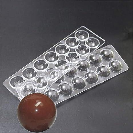 Molde de policarbonato duro con forma de esfera, 2 unidades, 14 cavidades 3D,