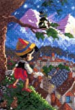 MCG Textiles Disney Dreams Collection By Thomas Kinkade Pinocchio Vignette 5x7  18 Count