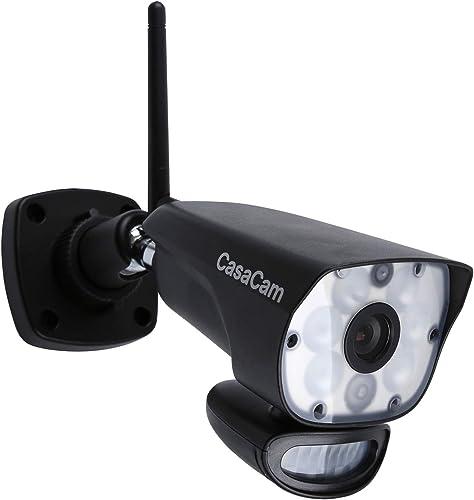 CasaCam VC1000 AC Powered HD Spotlight Camera for VS1002, VS1001 and VS802 7 Wireless Security System add-on Spotlight Camera