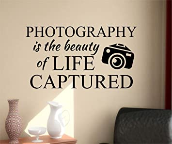 Ditooms Photography Quote Wall Decals Beauty Of Life Quotes Decor Vinyl Stickers