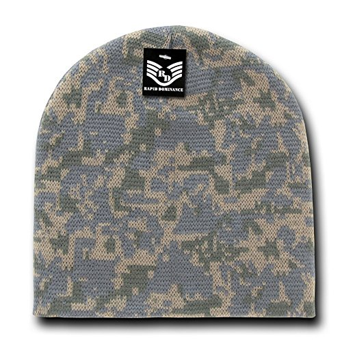 Classic Style Camouflage Watch Cap Short Beanie - Universal Digital (Digital Camo Winter Hat)