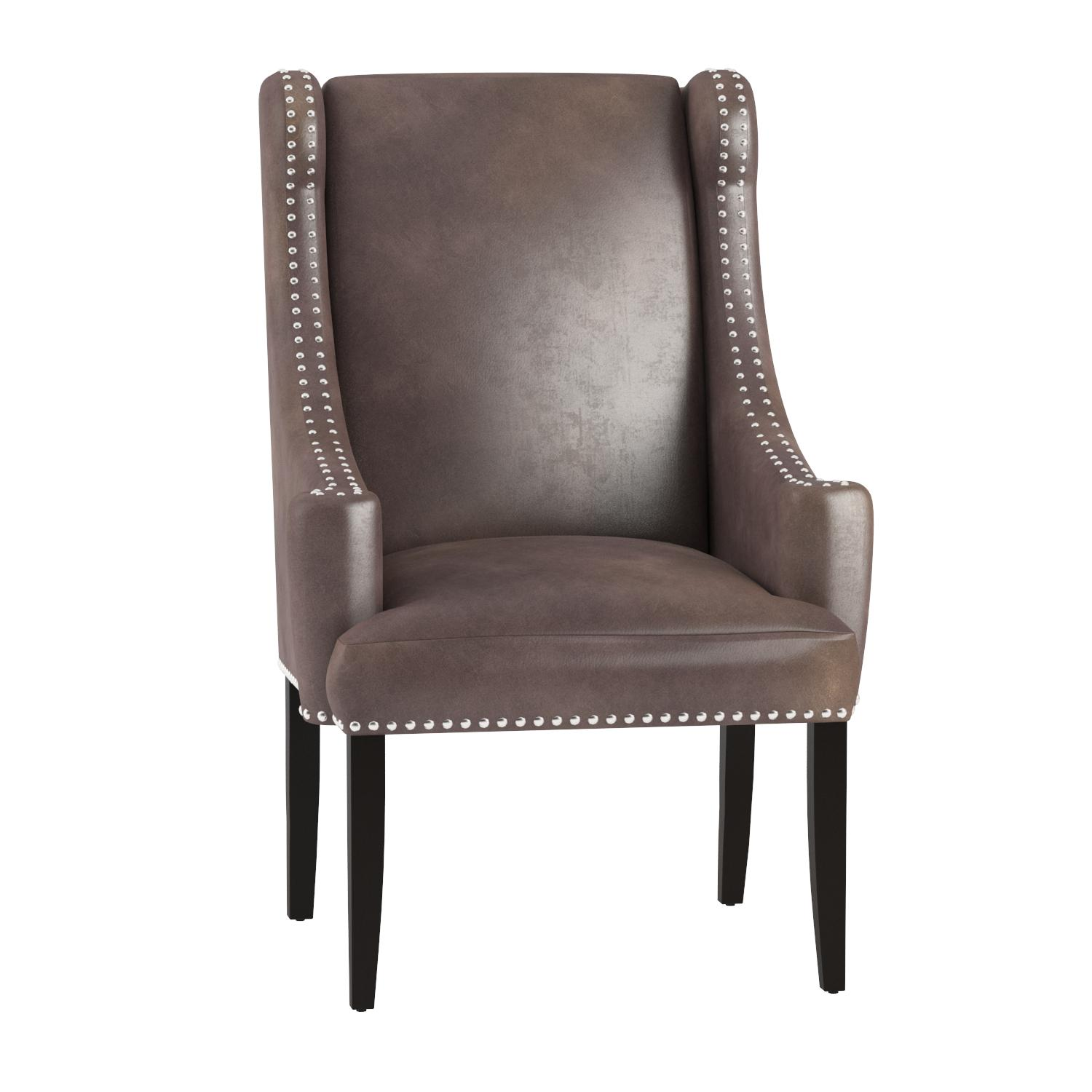 Cheap Madison Park Marcel High Back Wing Chair Taupe See below living room chair for sale