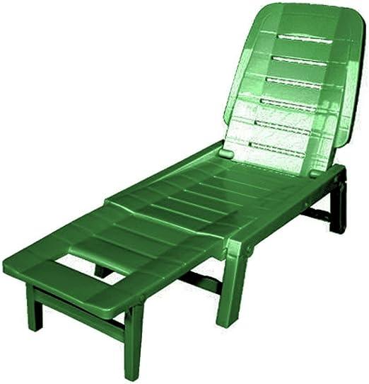 SIBrand Evergreen Cuna plegable de resina verde muebles exterior jardín eg55183: Amazon.es: Jardín