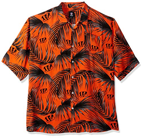FOCO Men's : Floral Shirt, Cincinnati Bengals, X Large