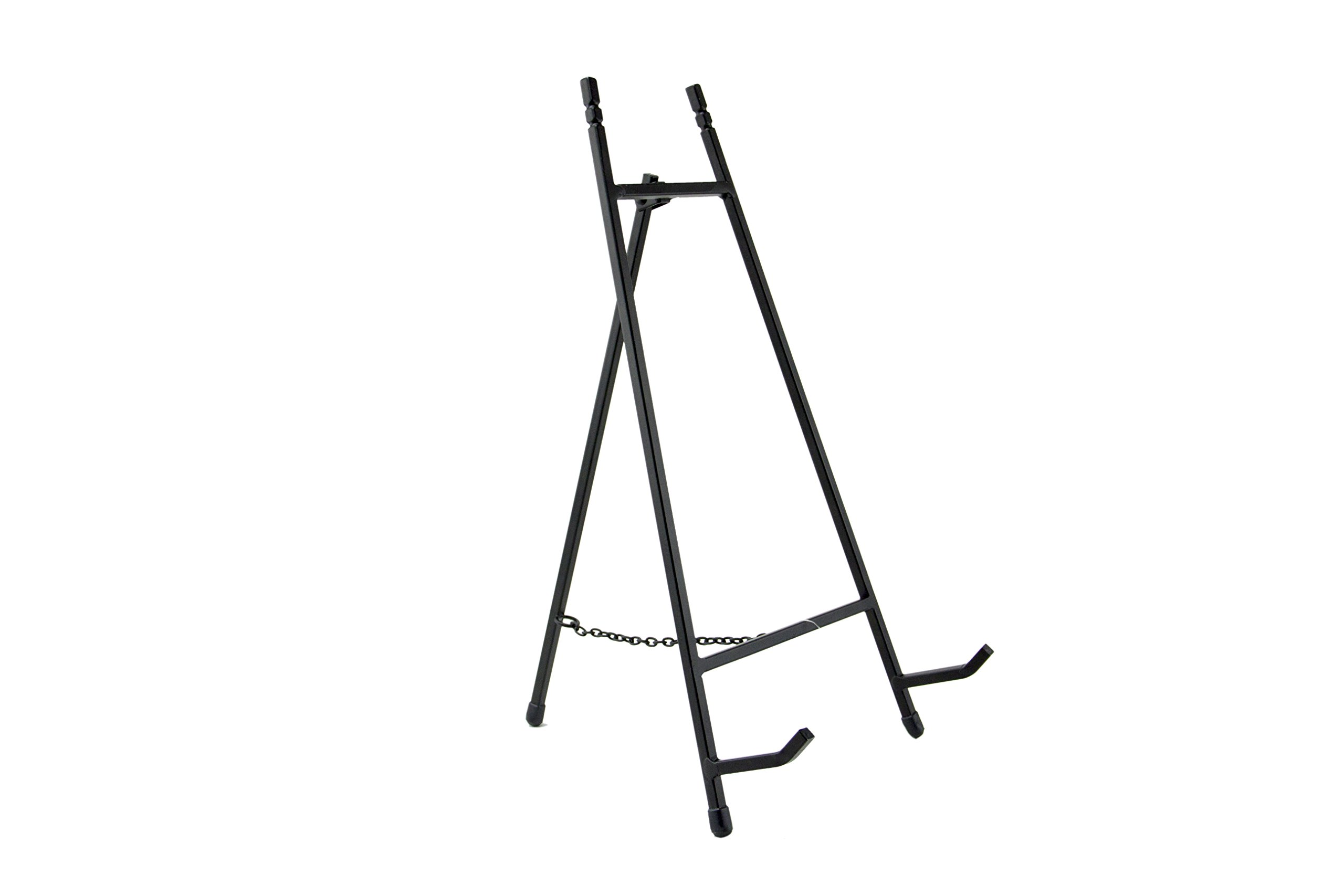 Modern Metal Tripod Plate Stand and Art Holder Easel in Black - 13'' by Red Co.