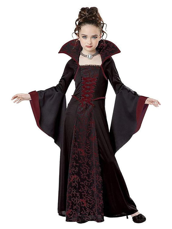 Lecoyeee Disfraz de Vampire Disfraz de Vampiresa Gótica Halloween ...