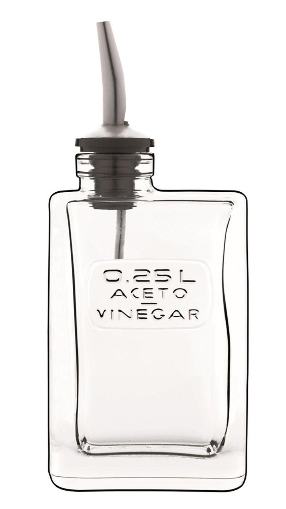 Bormioli Luigi:Optima Vinegar Bottle with Stopper, 8.45 Fluid Ounces (250mL) Capacity