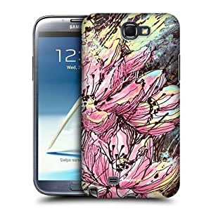 AIYAYA Samsung Case Designs Hanakotoba Floral Drips Protective Snap-on Hard Back Case Cover for Samsung Galaxy Note 2 II N7100 by lolosakes