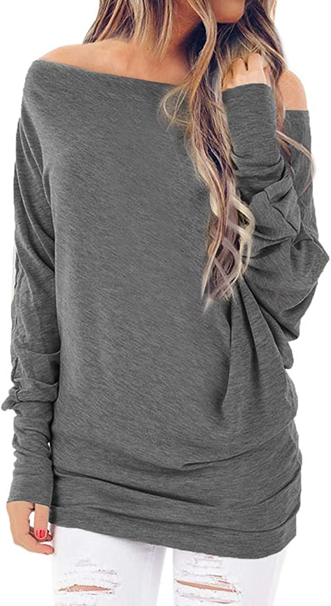 UJUNAOR Mens Brief Breathable Comfy Solid Color Long Sleeve Loose Casual T Shirt Blouse
