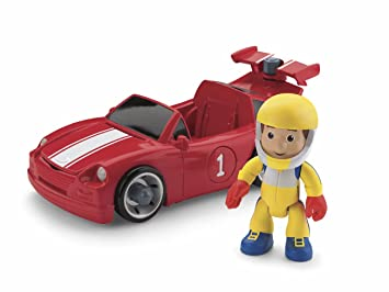 Amazon Com Fisher Price Handy Manny Tune Up Race Car Toys Games