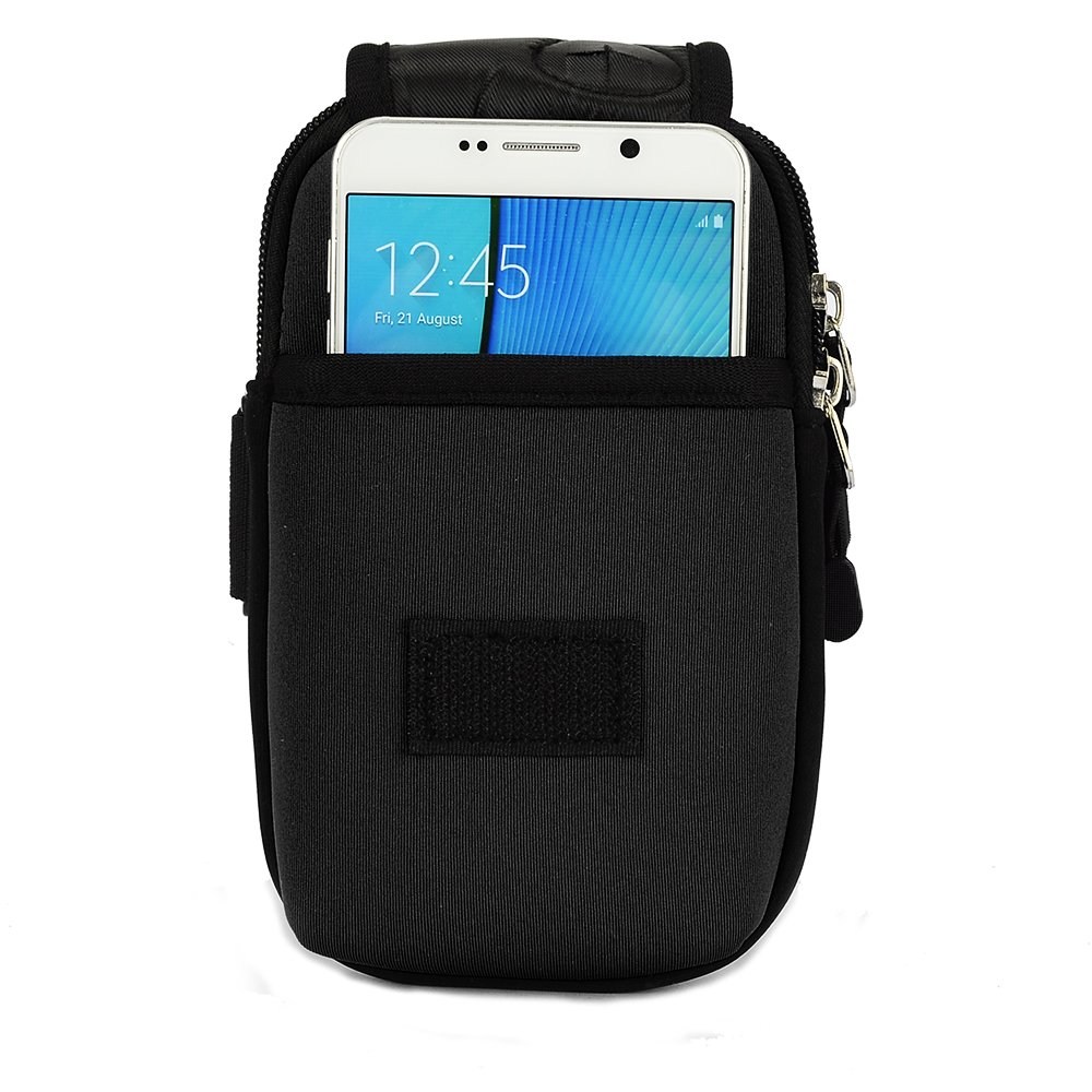 Sumaclife Sport Workout Armband Dual Zipped Neoprene Lifeproof Samsung Galaxy S6 Fre Case 77 51242 Black Phouch For Lg G5 K10 S7 Edge Htc One 10fits Otterbox Or Other Rugged Cell