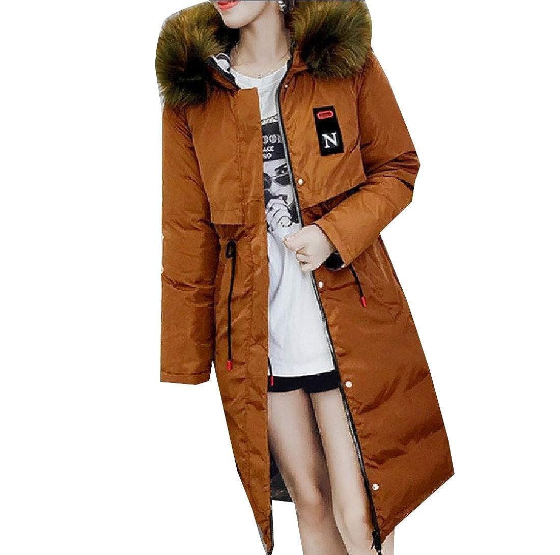 YUNY Womens Reversible Wrap Hood Drawstring Fit Wadded Jacket One XL