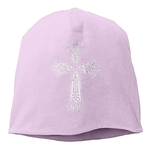 bb88fcb9a7595 Image Unavailable. Image not available for. Color  Christian Jesus Cross  Unisex Toboggan Knit Hat Warm Hat Skull ...