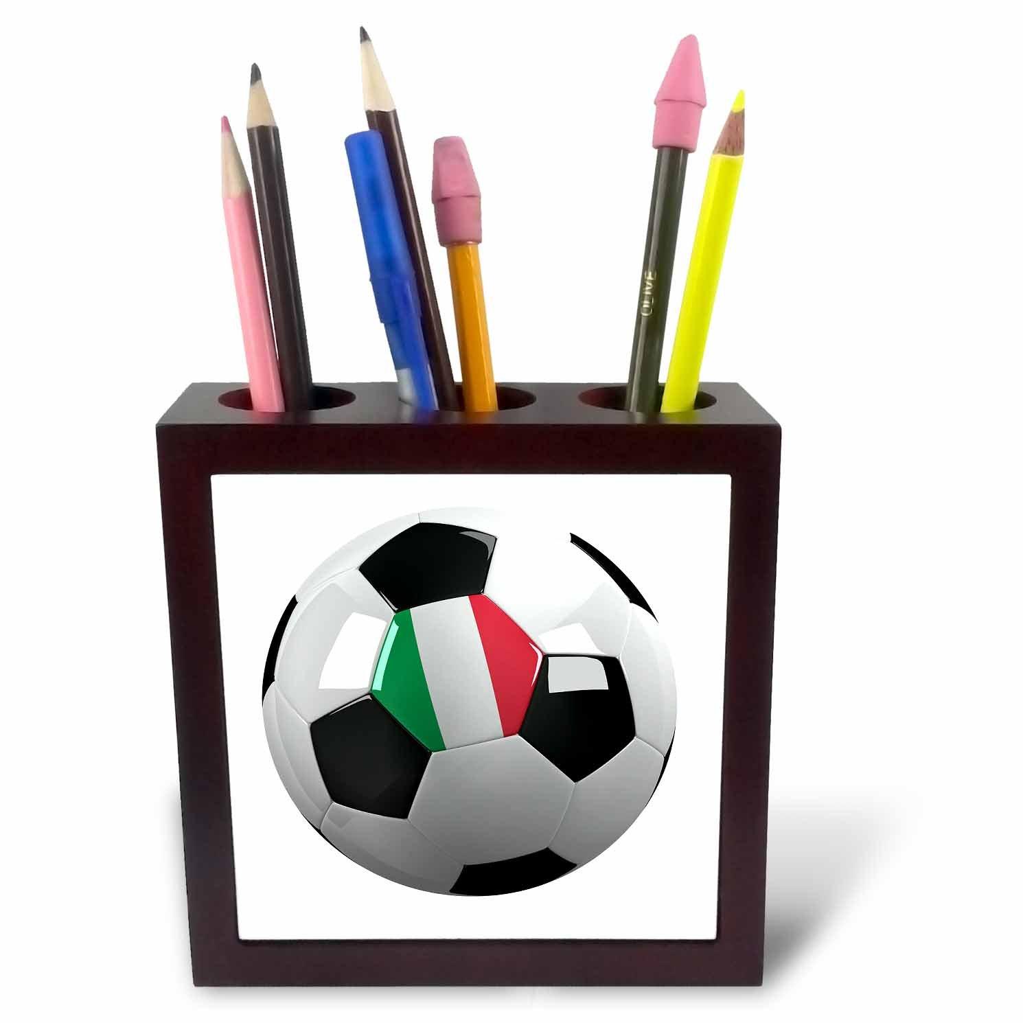 3dRose ph 157026 _ 1 de balón de fútbol con la Bandera Nacional de ...
