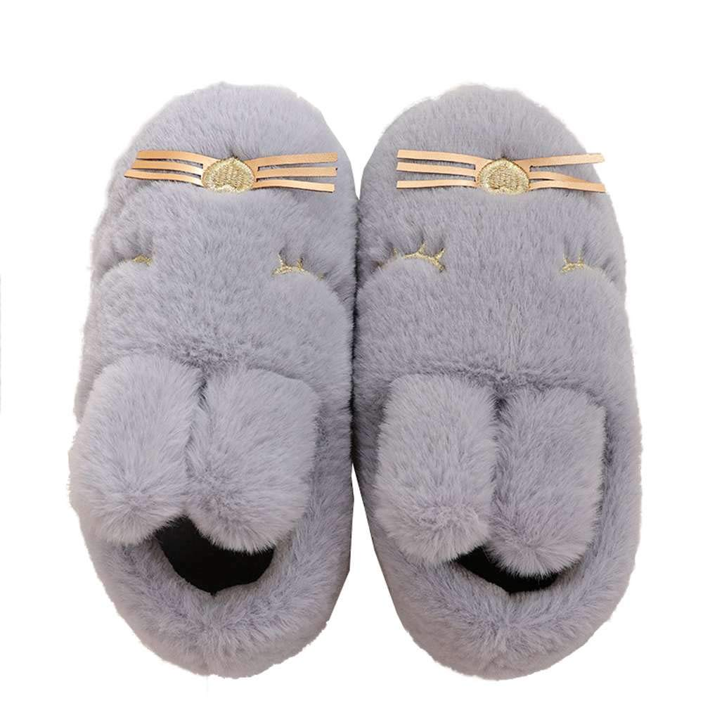 Kids Animal House Slippers Bunny Cute Family Indoor Outdoor Fuzzy Home Booties
