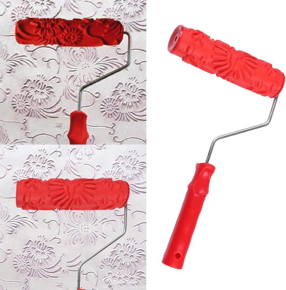 FRFJY Brosse Outil de Mur en Relief Motif /À Fleur Peinture Rouleau Nouvelle Peinture D/écorative Rouleau Brosse Outils DIY
