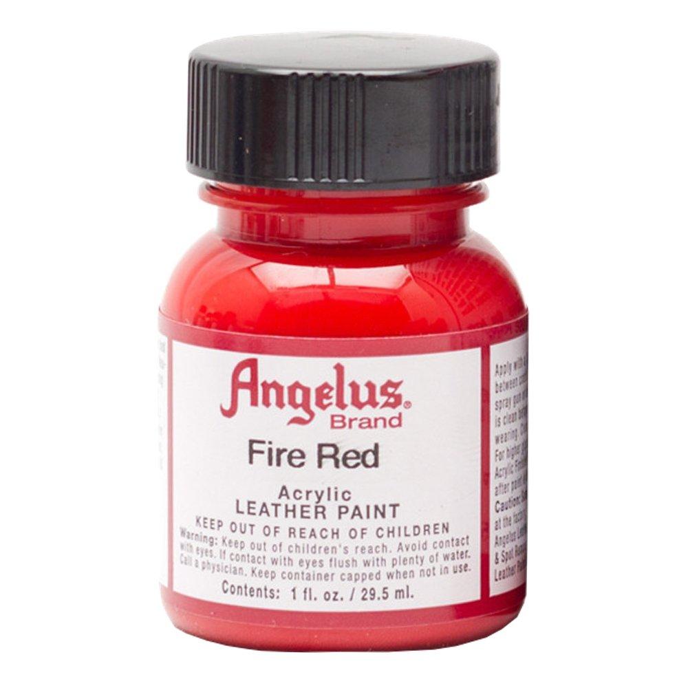 Angelus in pelle di vernice 1 Oz Rosso Fuoco MACPHERSON 710005